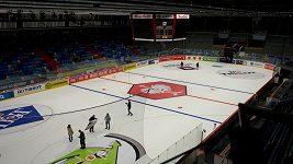 Zimní stadion v Hradci Králové se připravoval na finále Ligy mistrů
