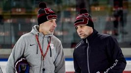Čtvrteční trénink hokejistů Sparty vedl s Miloslavem Hořavou už i Josef Jandač