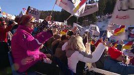 Triumf Sutterové v super-G v Ga-Pa, pády Goggiaové a Rebensburgové
