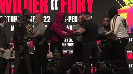 Trashtalk v podání Tysona Furyho a Deontaye Wildera před sobotním zápasem o titul v těžké váze organizace WBC.