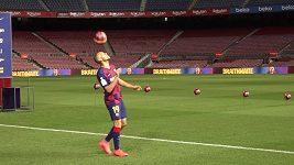 Dánský útočník Martin Braithwaite kouzlil na Camp Nou.