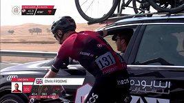 Chris Froome a Mark Cavendish při závodu Kolem SAE