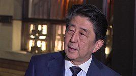Vyjádření japonského premiéra Šinza Abeho k odkladu olympijských her v Tokiu.