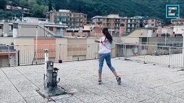 Italské tenistky si s nařízenou karanténou poradily po svém, zahrály si na střechách domů