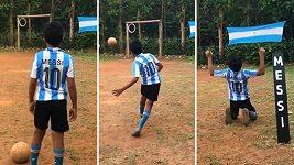 Indický klučina perfektně napodobuje Lionela Messiho