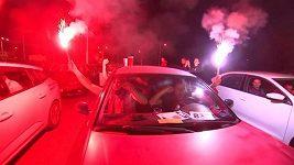 Fanoušci Viktorie Plzeň sledovali výhru nad Spartou v autokině