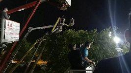 Fanoušci v Polsku sledovali závody z plošin