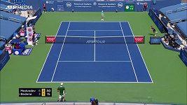 Slovinský tenista Aljaž Bedene trefil kameramana a hrozila mu diskvalifikace