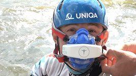 Čeští kajakáři vyrazili na trať v maskách. Do olympiády potřebují zlepšit dýchání