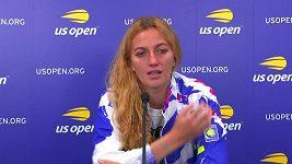 Smutná tenistka Petra Kvitová po vyřazení z US Open