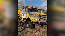 Martin Macík zapadl se svým kamionem během Baja Poland