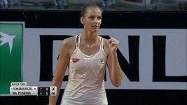 Karolína Plíšková v semifinále v Římě vyřadila Markétu Vondroušovou