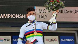Ital Filippo Ganna získal na cyklistickém MS zlato v časovce