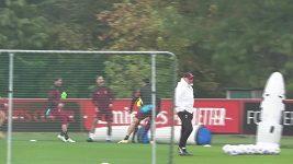 Ibrahimovic srazil na tréninku Maldiniho