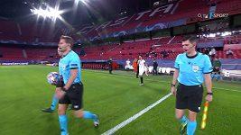 Sestřih zápasu fotbalové Ligy mistrů Sevilla - Krasnodar