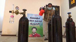 Liverpoolský útočník Salah pomáhá svému rodnému městu v Egyptě v boji s covidem