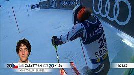 Desátý čas ve slalomu vynesl Jana Zabystřana v kombinaci na životní 9. pozici