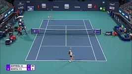 Sestřih utkání 3. kola Miami Open mezi Petrou Kvitovou a Johannou Kontaovou.