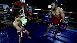 Devítiletý thaiboxer