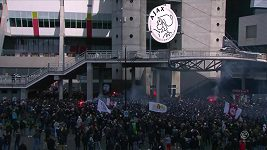 Fanoušci Ajaxu slaví titul