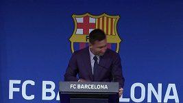 Messi se s Barcelonou loučil v slzách