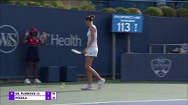 Sestřih zápasu 3. kola turnaje v Cincinnati Karolína Pllíšková - Jessica Pegulaová