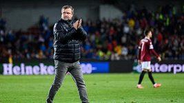 Čtyři body ze dvou zápasů, to je dobrý krok k postupu v Evropské lize, říká trenér Pavel Vrba