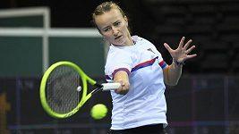 České tenistky vyzkoušely centrkurt v O2 areně. Barbora Krejčíková si ho pochvalovala
