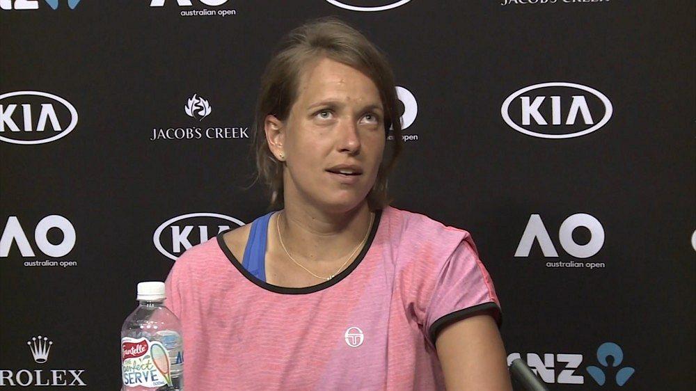 Barbora Strýcová po porážce od Sereny Williamsové