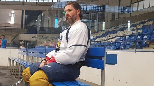 Jaromír Jágr se zapojil do tréninku kladenských Rytířů.